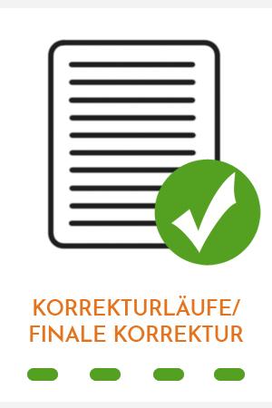 Finale Korrektur von Gudrun M. Müller